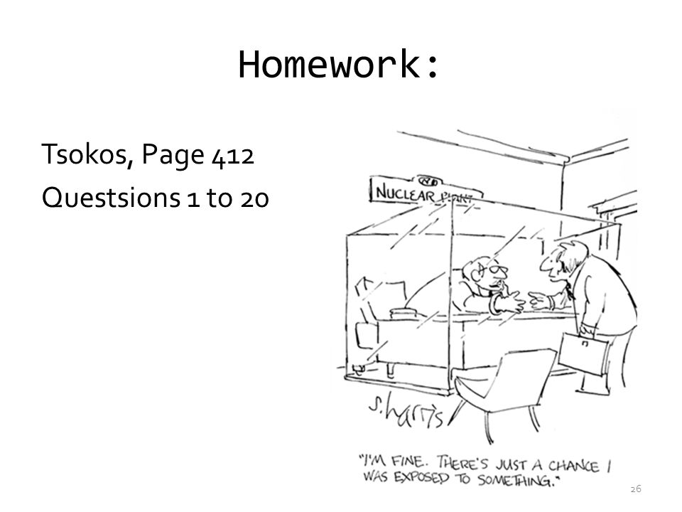 Homework: Tsokos, Page 412 Questsions 1 to 20