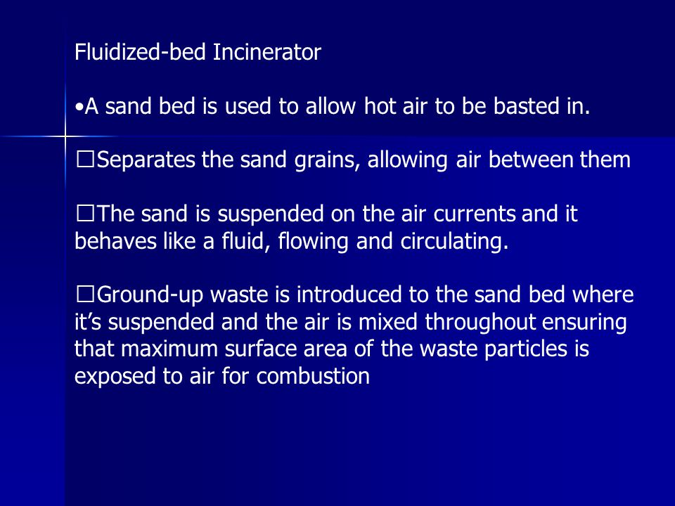 Fluidized-bed Incinerator