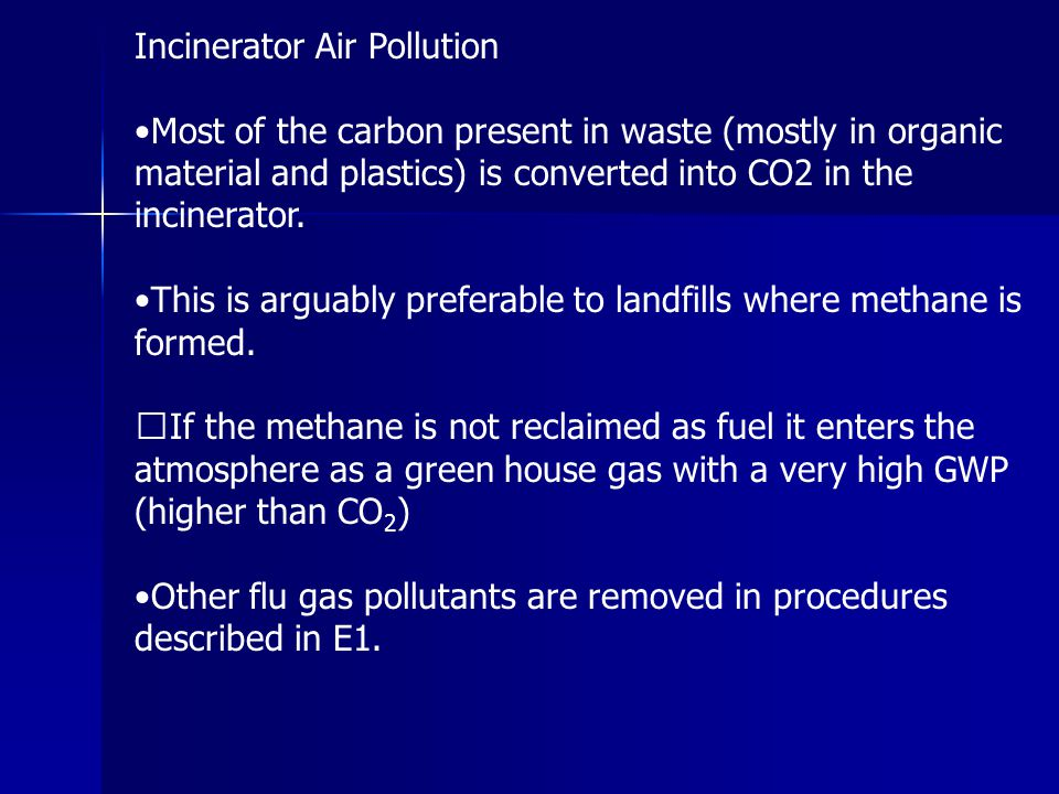 Incinerator Air Pollution