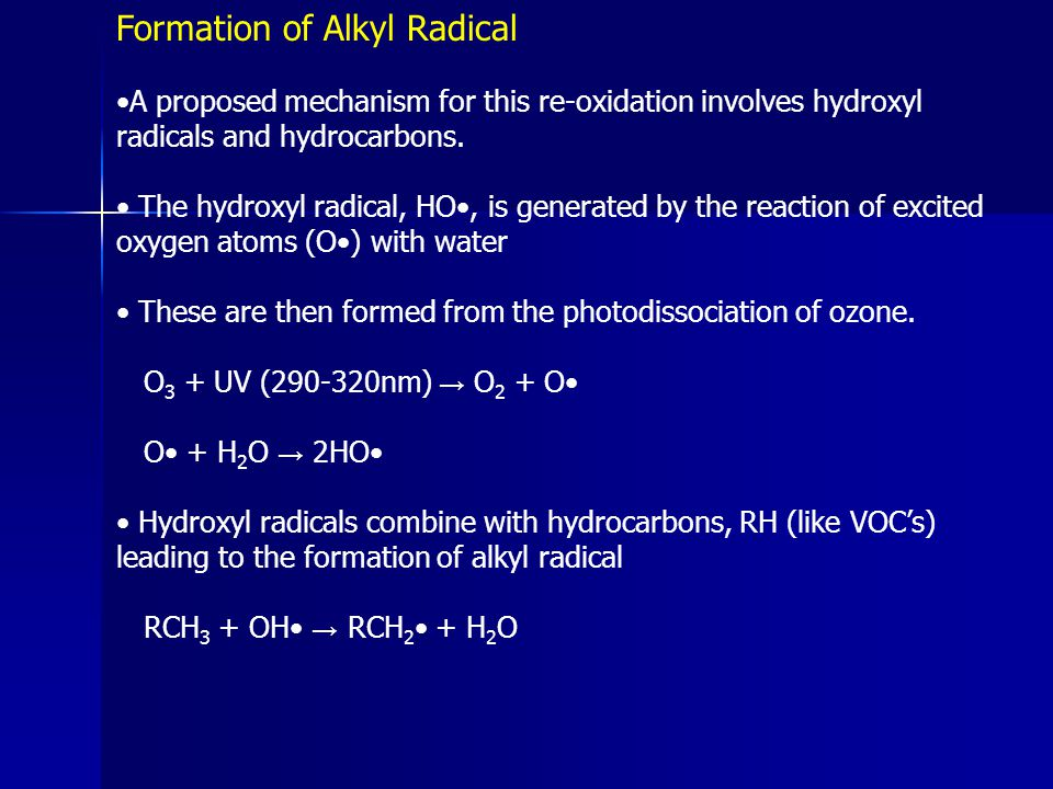 Formation of Alkyl Radical