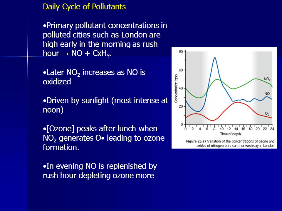 Daily Cycle of Pollutants