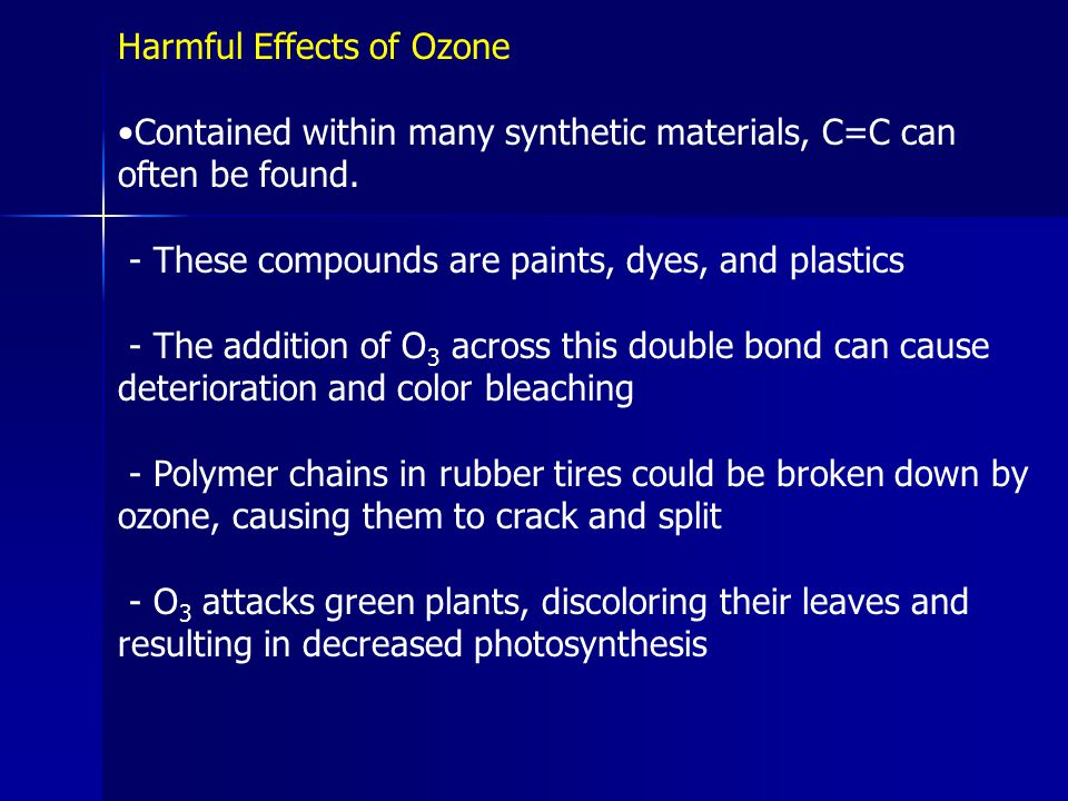 Harmful Effects of Ozone