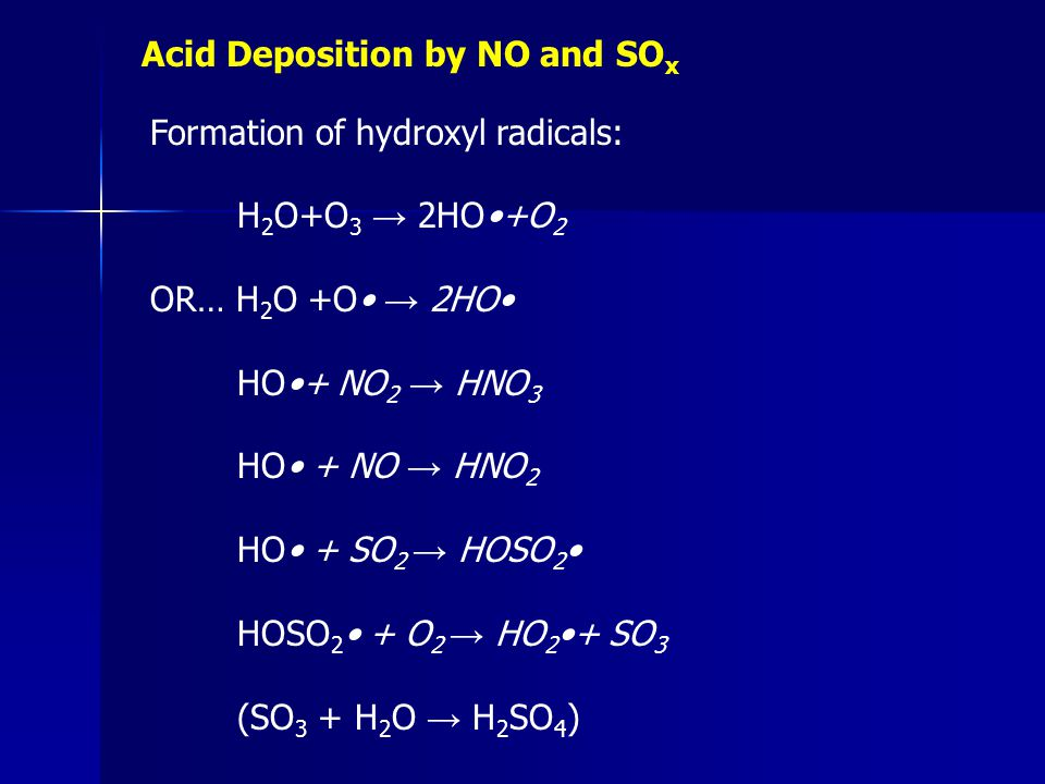 Acid Deposition by NO and SOx