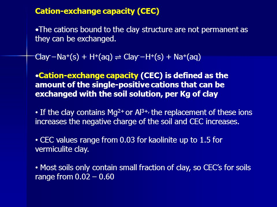 Cation-exchange capacity (CEC)
