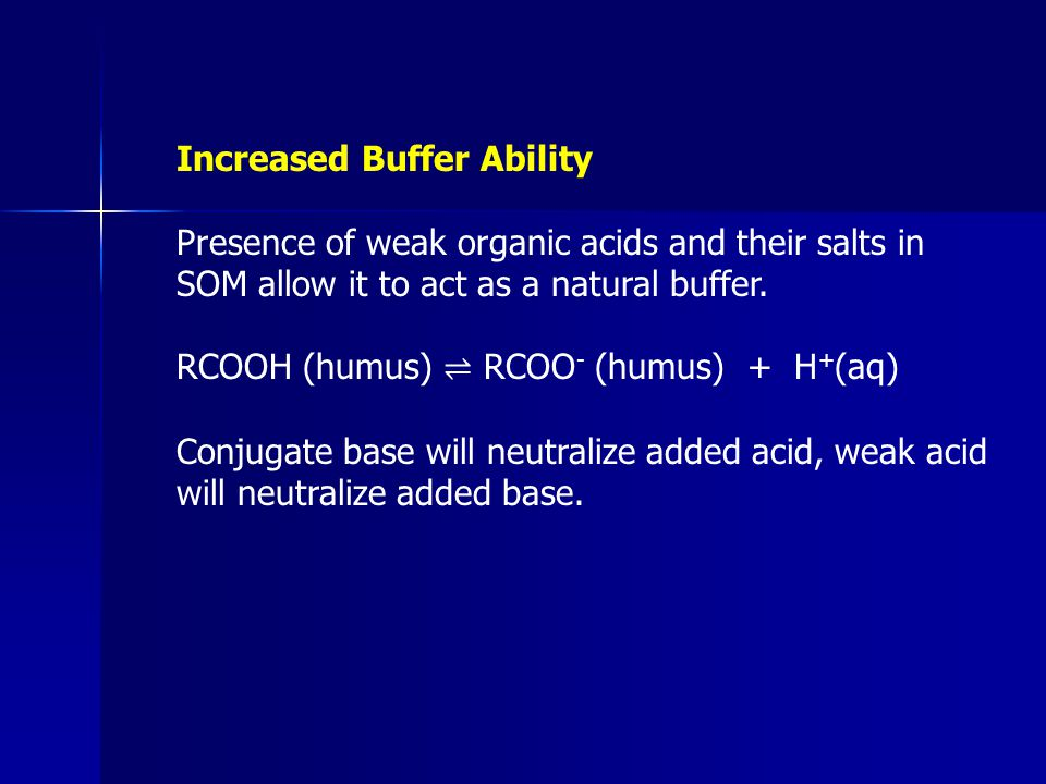 Increased Buffer Ability