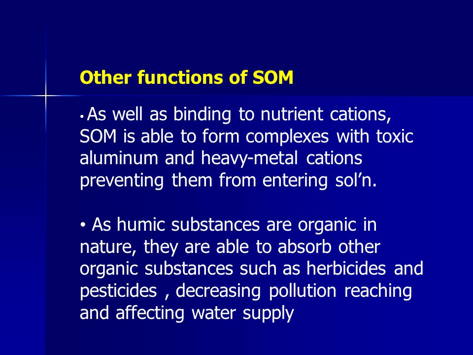 Other functions of SOM