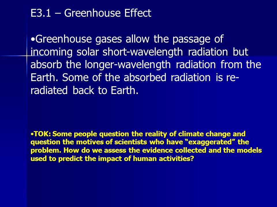 E3.1 – Greenhouse Effect
