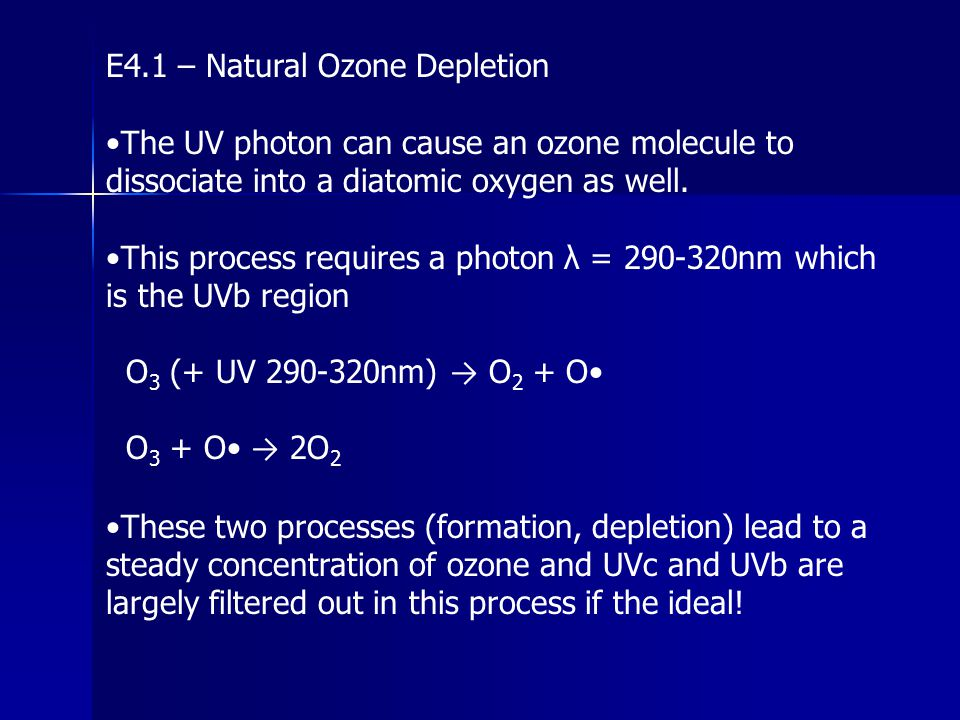 E4.1 – Natural Ozone Depletion