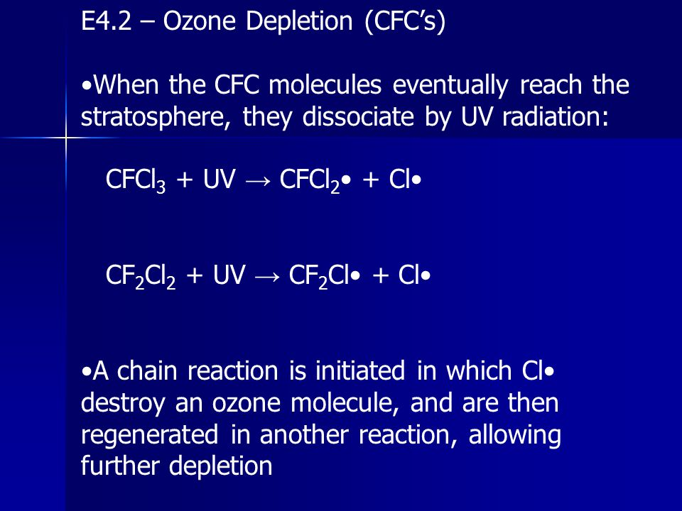 E4.2 – Ozone Depletion (CFC's)