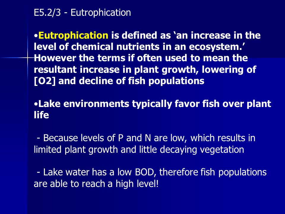 E5.2/3 - Eutrophication