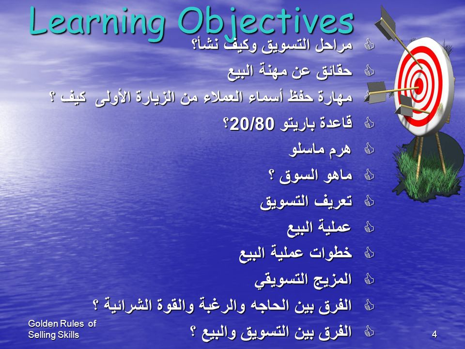 Learning Objectives مراحل التسويق وكيف نشأ؟ حقائق عن مهنة البيع