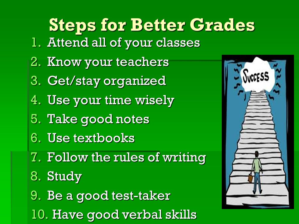 how to get better grades in school
