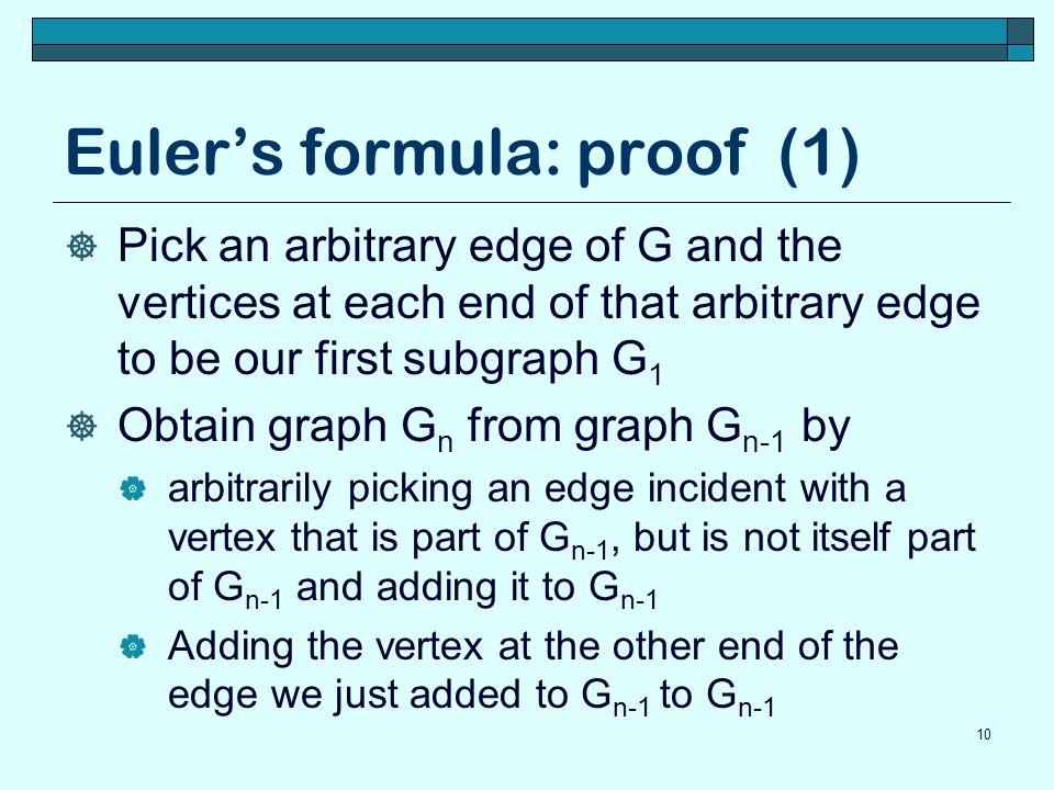 Euler's formula: proof (1)