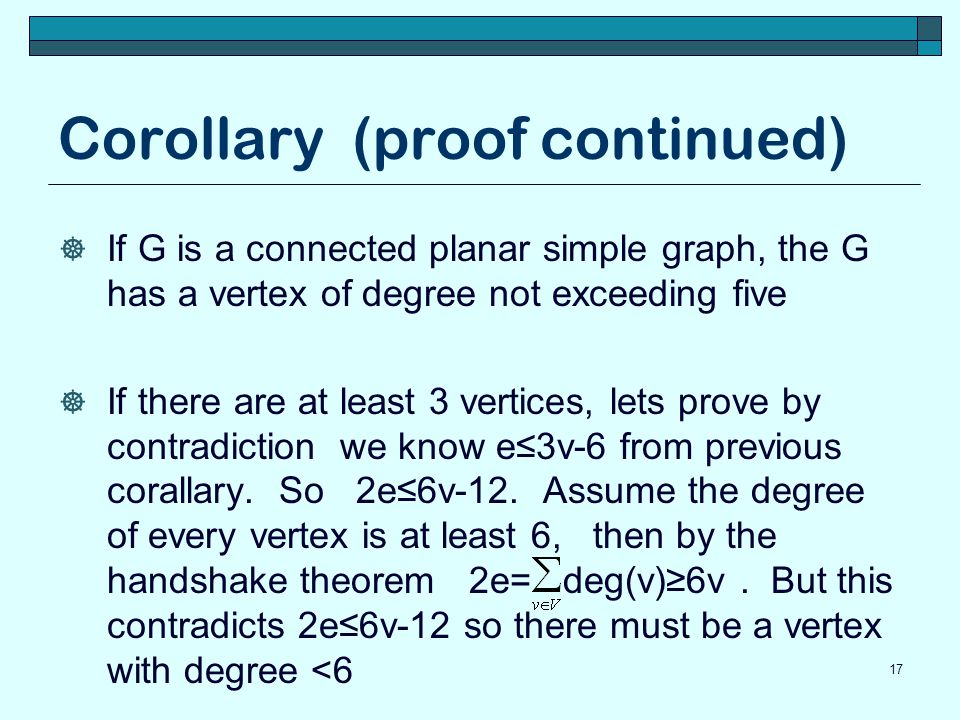 Corollary (proof continued)