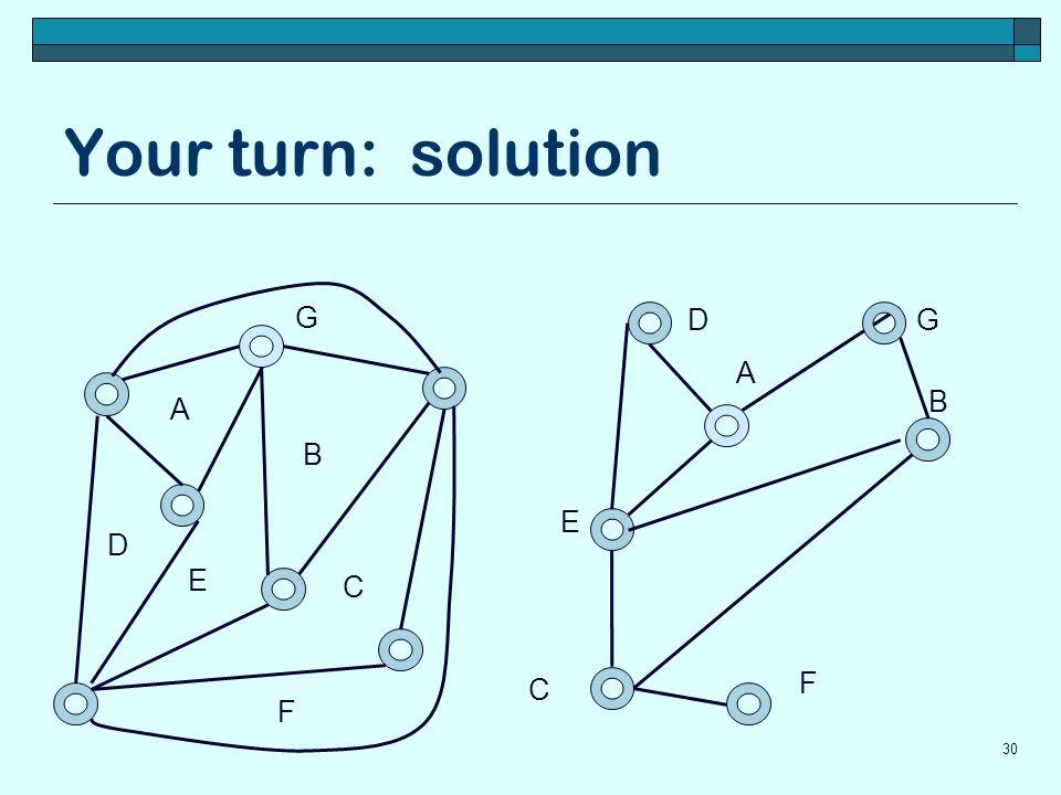 Your turn: solution G D G A B A B E D E C F C F