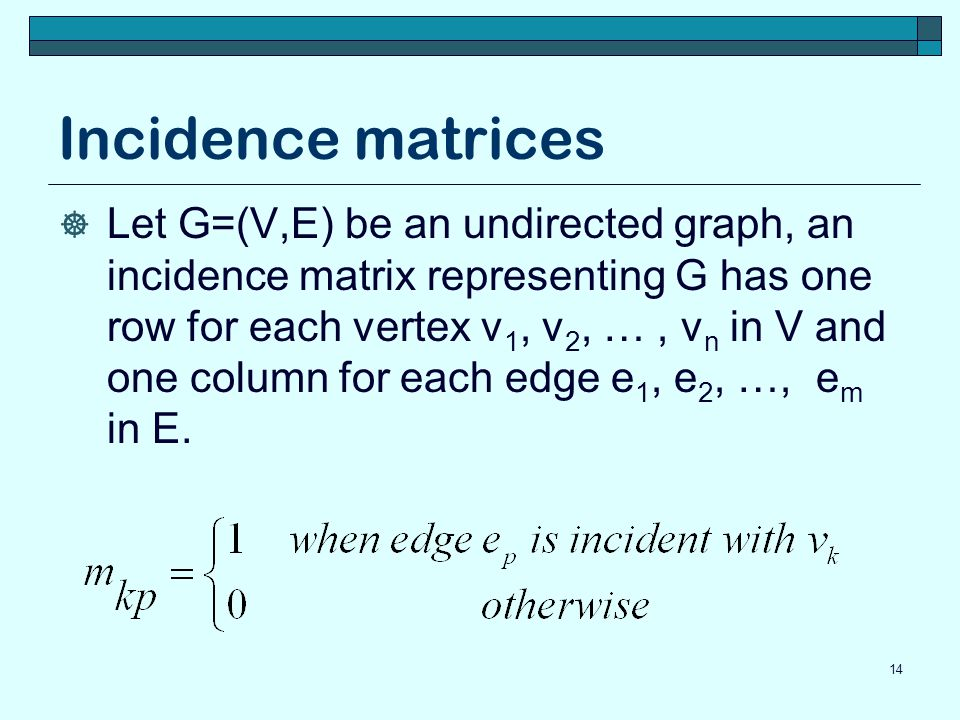 Incidence matrices