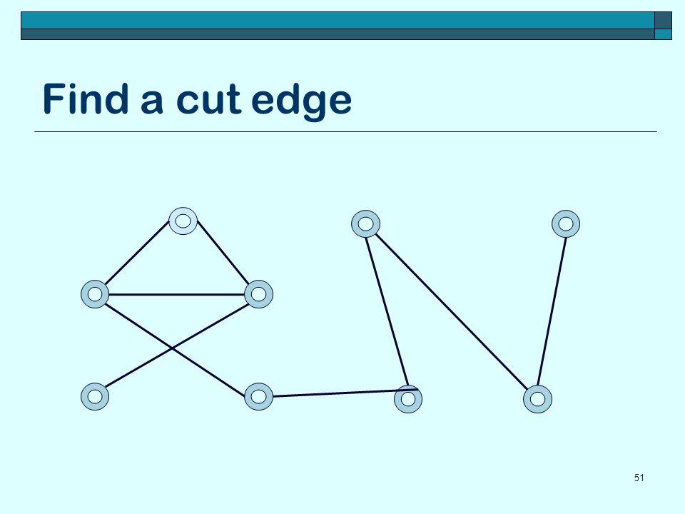 Find a cut edge