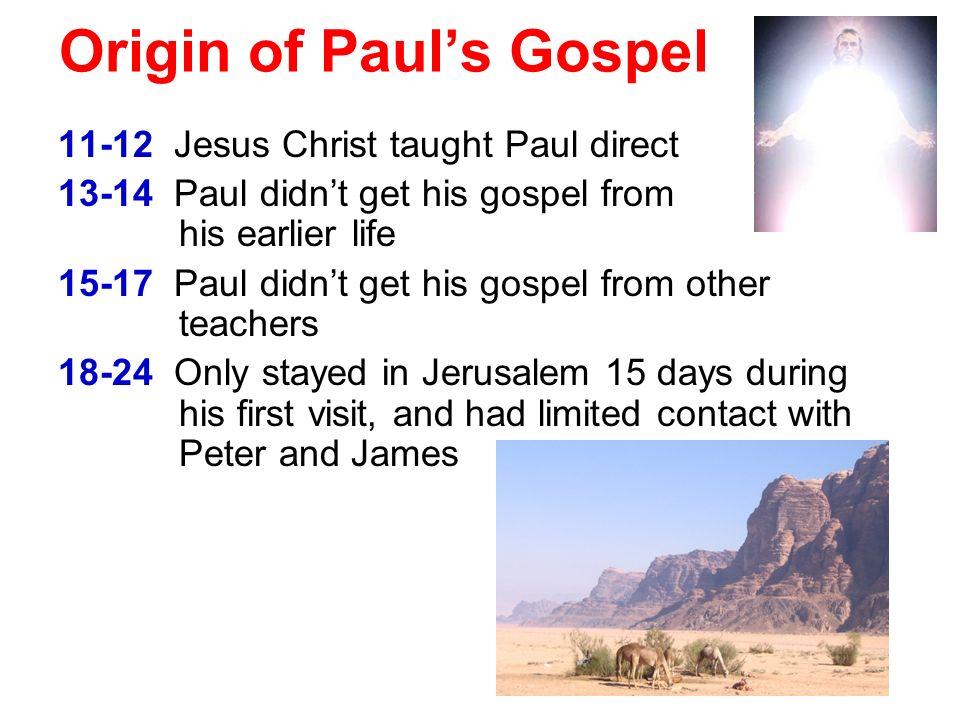 Origin of Paul's Gospel