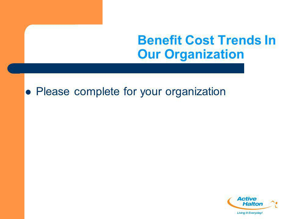 Benefit Cost Trends In Our Organization