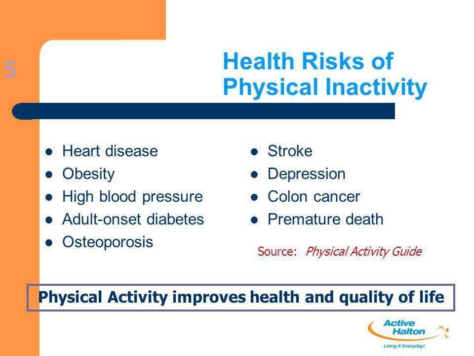 Health Risks of Physical Inactivity