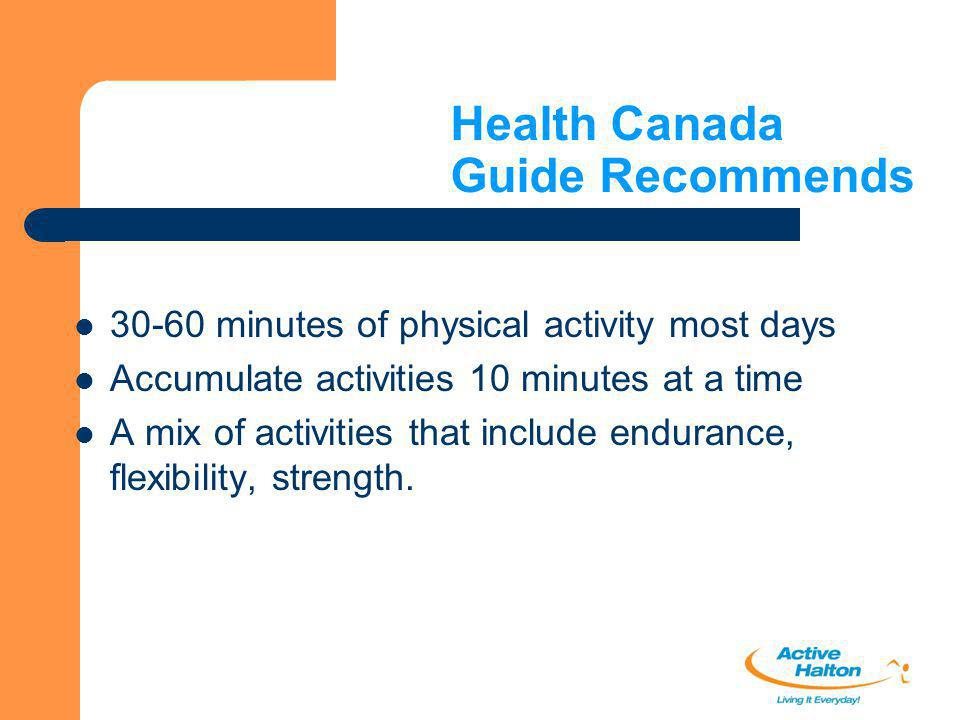 Health Canada Guide Recommends