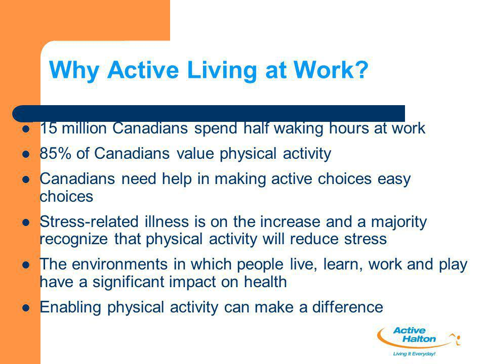 Why Active Living at Work