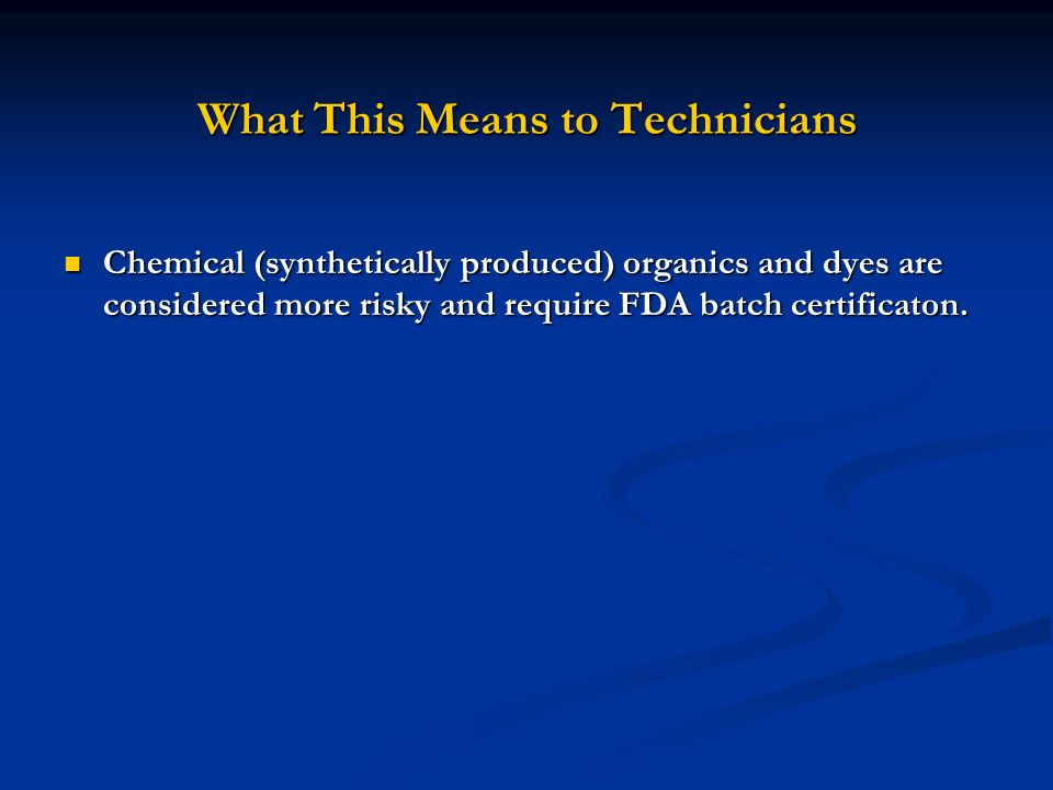 What This Means to Technicians