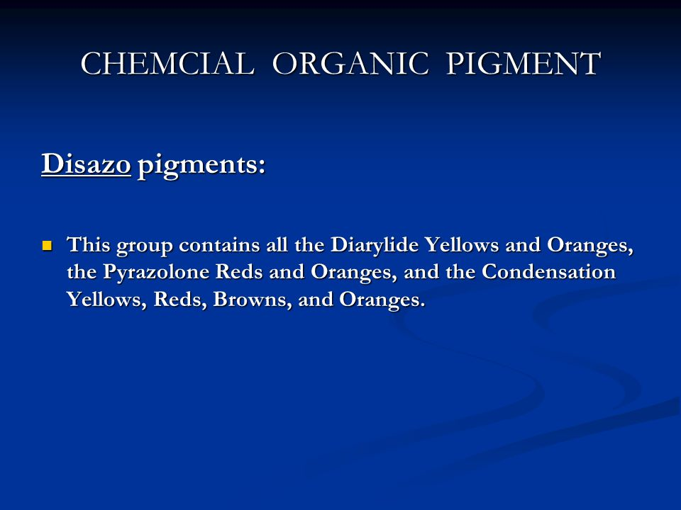 CHEMCIAL ORGANIC PIGMENT