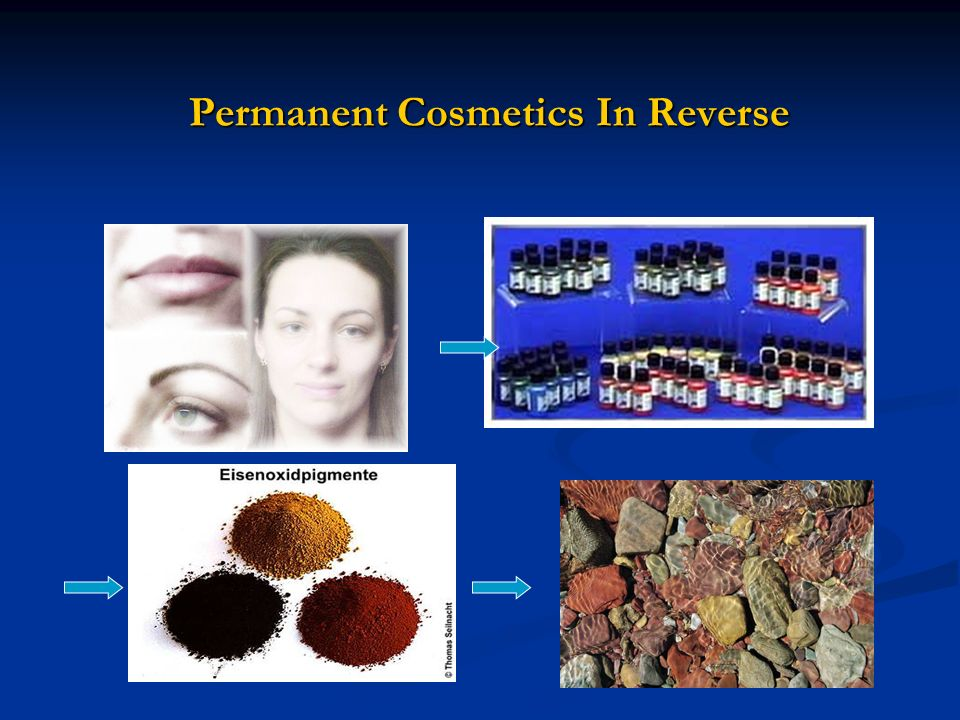 Permanent Cosmetics In Reverse