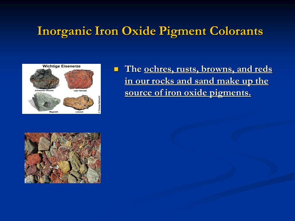 Inorganic Iron Oxide Pigment Colorants