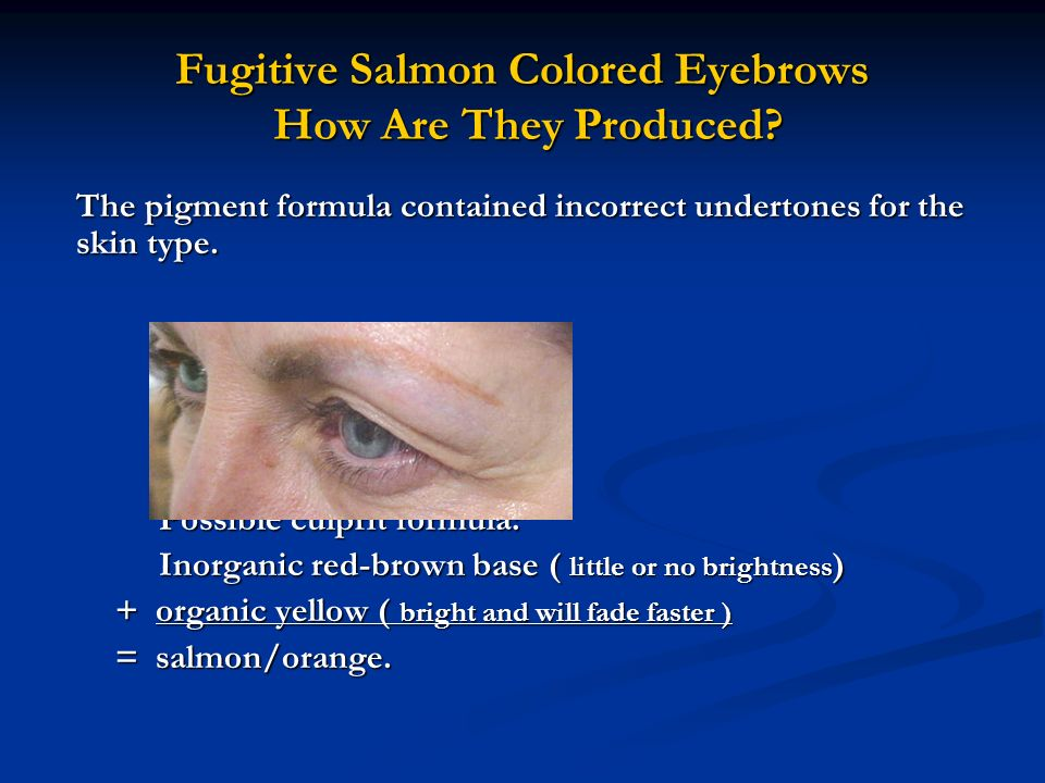 Fugitive Salmon Colored Eyebrows How Are They Produced