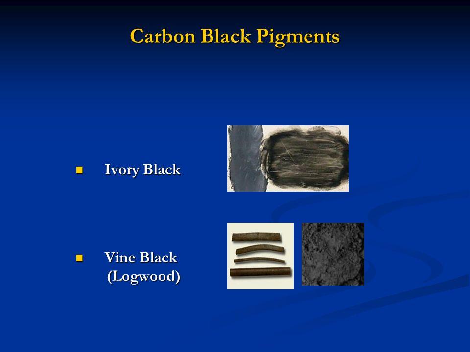 Carbon Black Pigments Ivory Black Vine Black (Logwood)