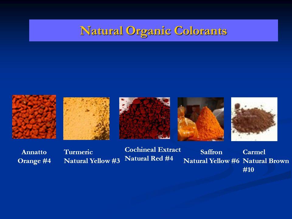 Natural Organic Colorants