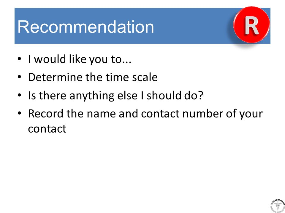 R Recommendation I would like you to... Determine the time scale