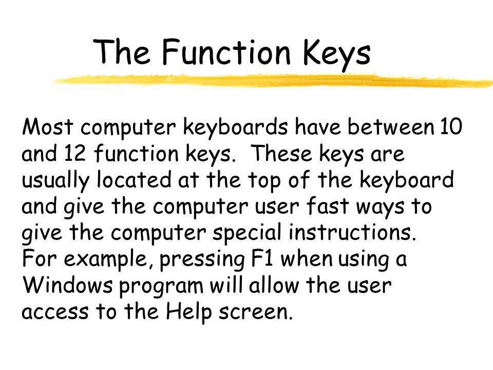 The Function Keys