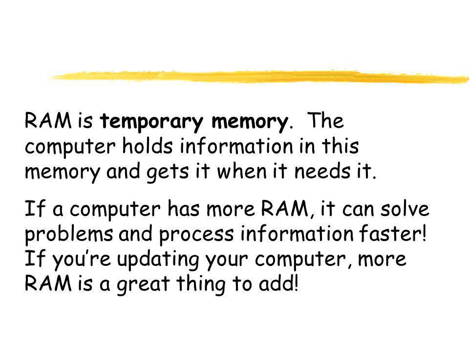 RAM is temporary memory