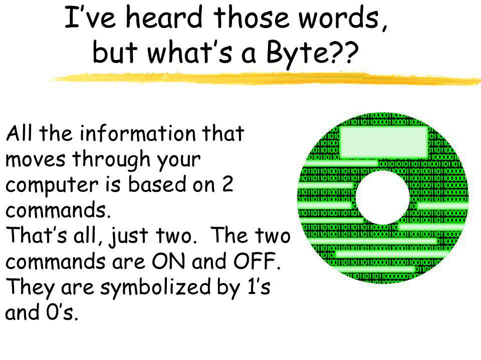 I've heard those words, but what's a Byte