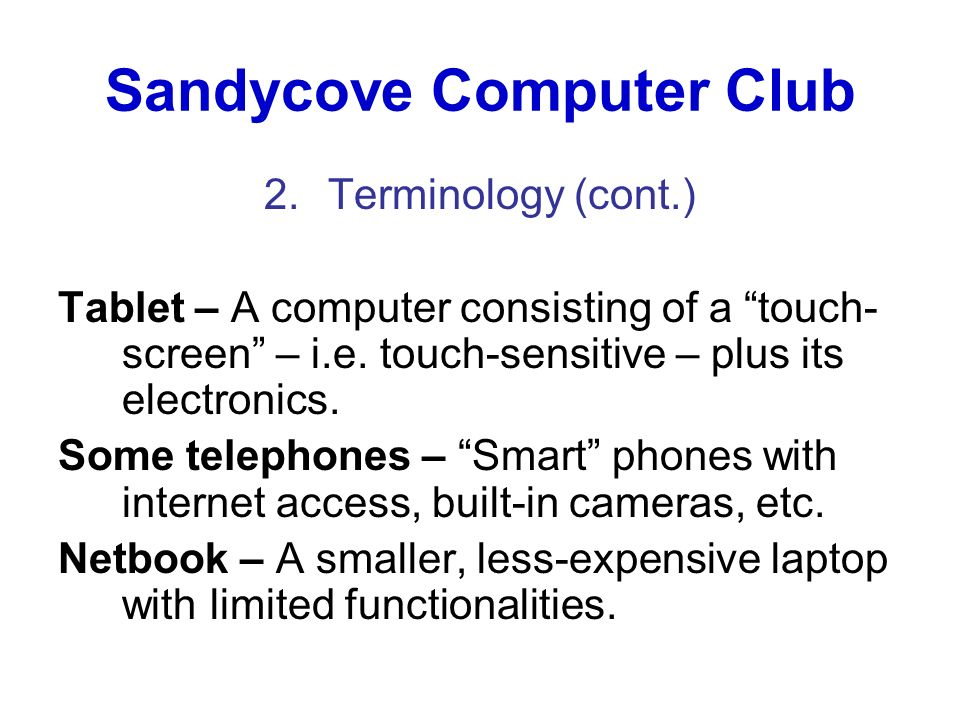 Sandycove Computer Club