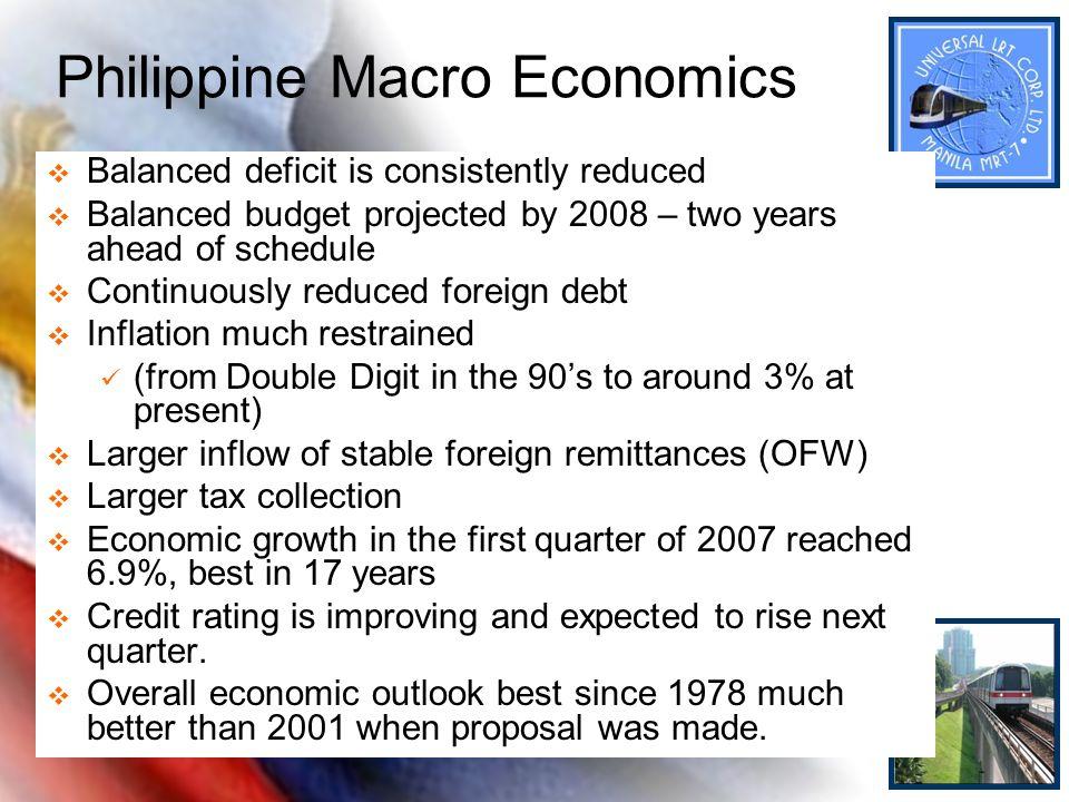 Philippine Macro Economics