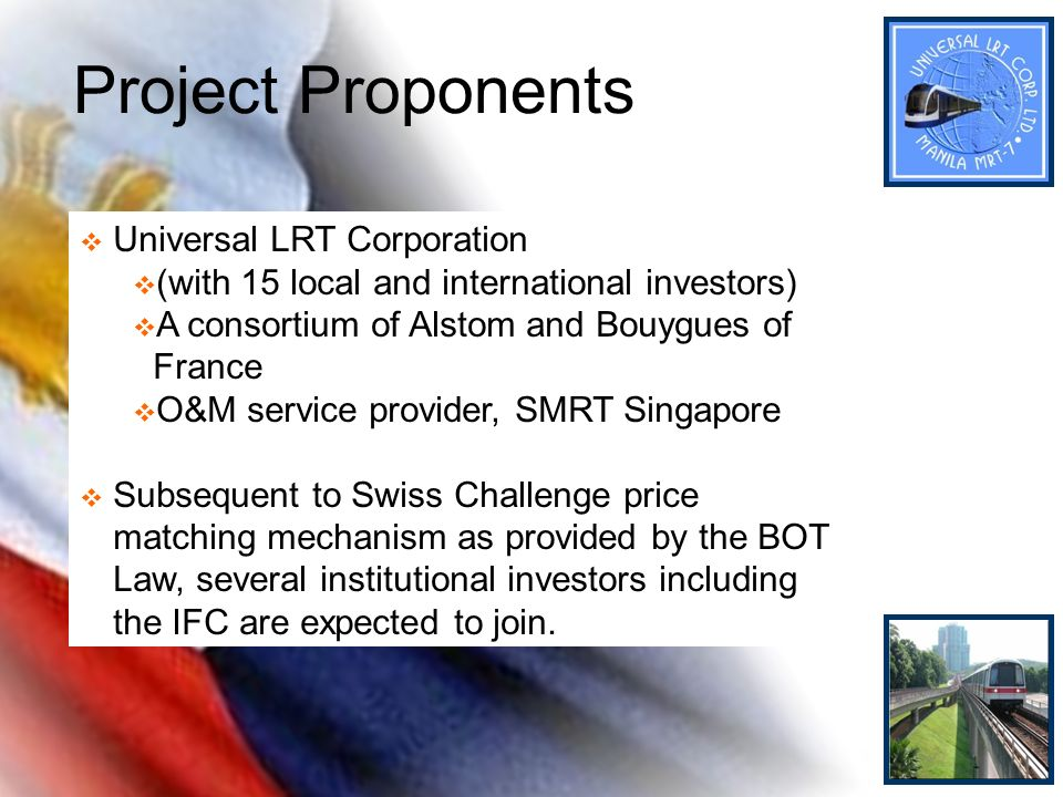 Project Proponents Universal LRT Corporation