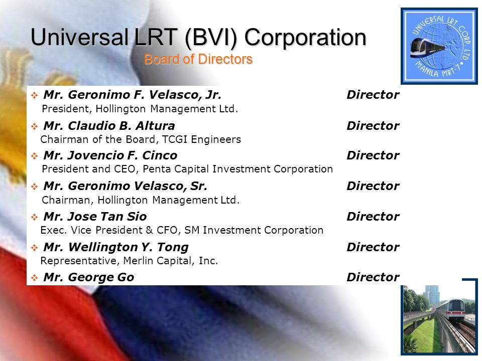 Universal LRT (BVI) Corporation