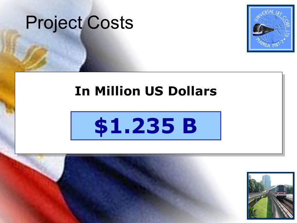 Project Costs In Million US Dollars $1.235 B