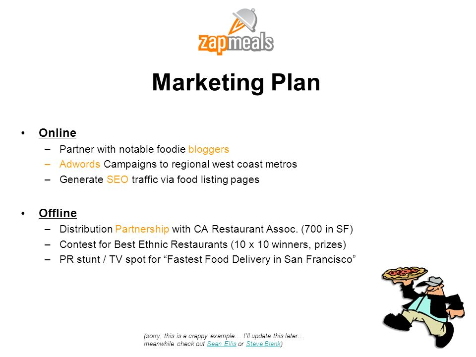 Marketing Plan Online Offline Partner with notable foodie bloggers