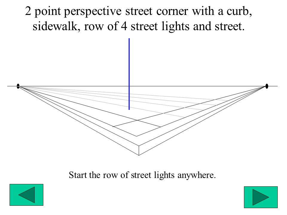 Start the row of street lights anywhere.