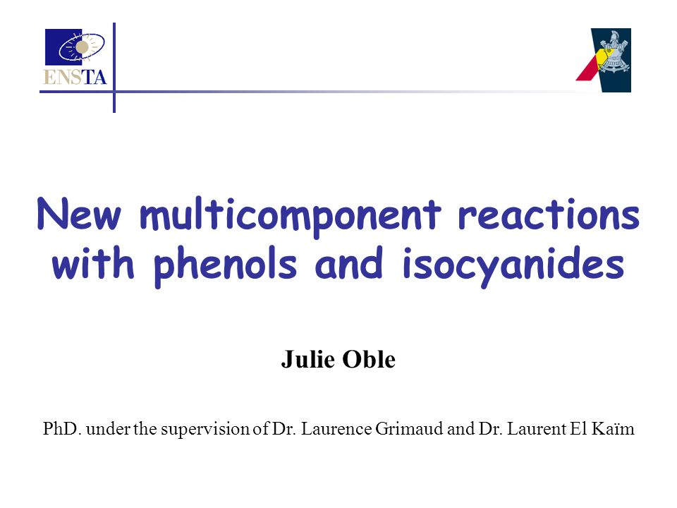 New multicomponent reactions with phenols and isocyanides