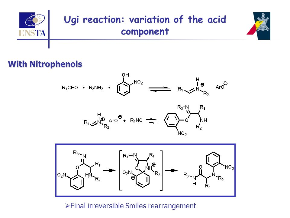 Ugi reaction: variation of the acid component