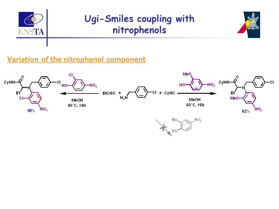 Ugi-Smiles coupling with nitrophenols
