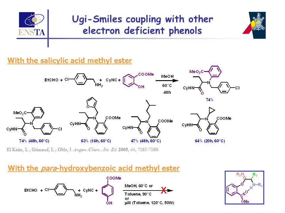 Ugi-Smiles coupling with other electron deficient phenols