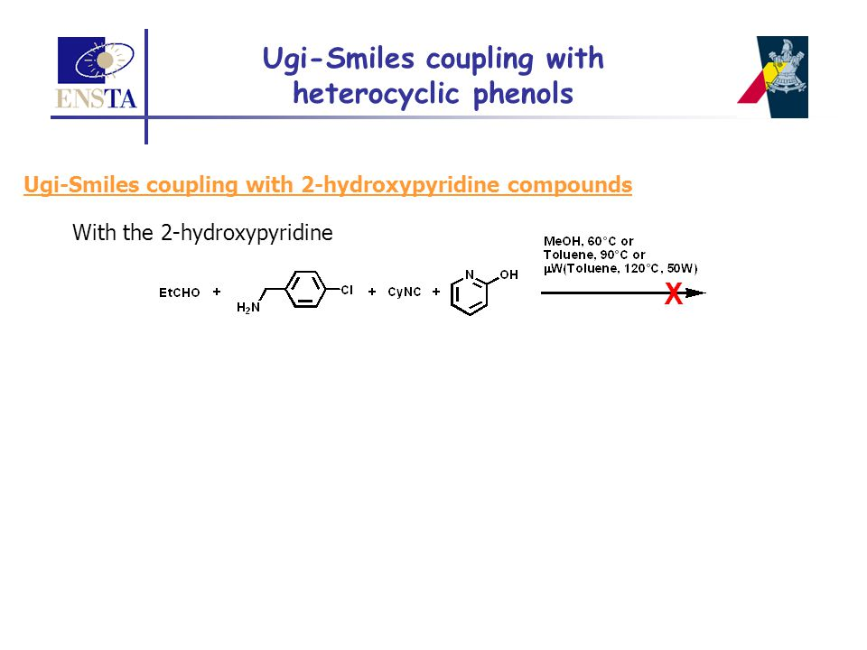 Ugi-Smiles coupling with heterocyclic phenols