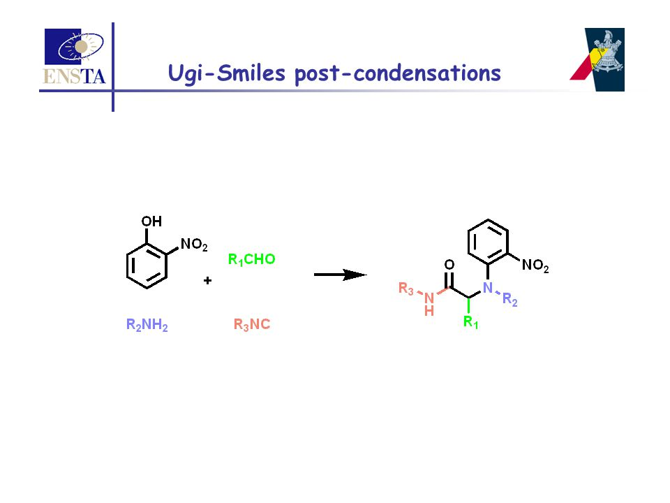Ugi-Smiles post-condensations